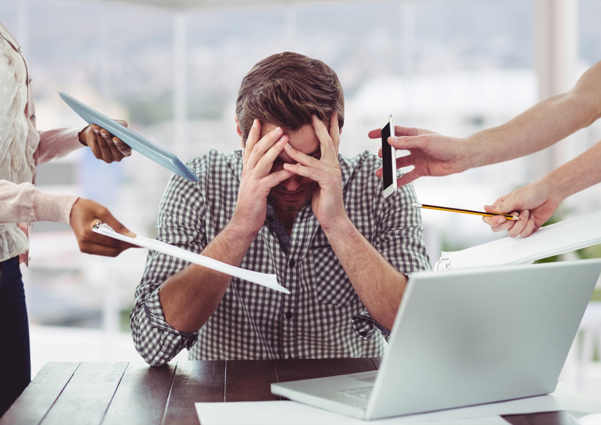 Sintomas habituales del estrés